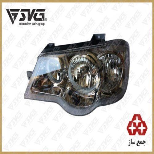 چراغ جلو چپ باقابلیت موتوردار شدن پراید X132 و X111 جمع ساز