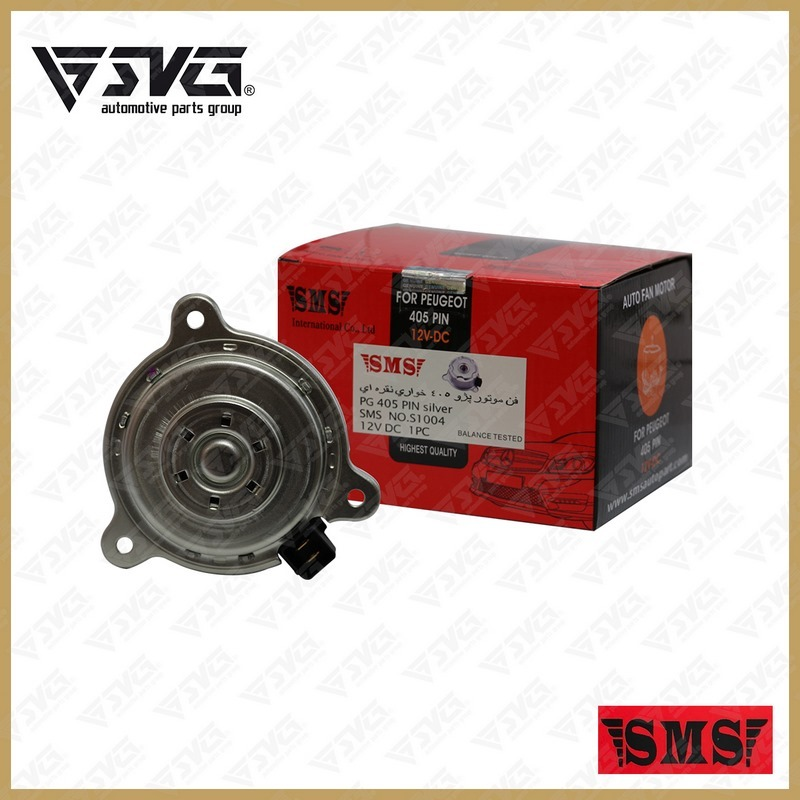 موتور فن رادیاتور پژو 405 ( خاری ) sms