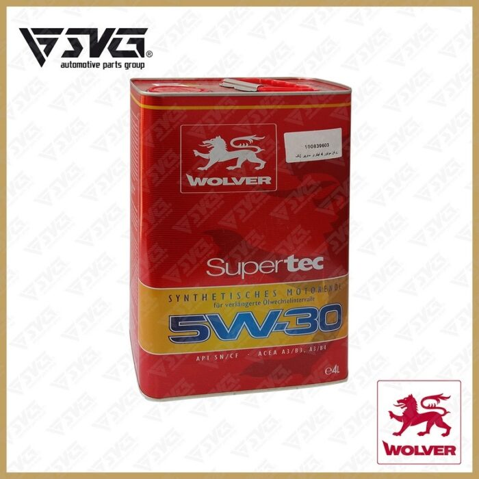 روغن موتور 4 لیتری سوپر تک WOLVER 5W30 API/SN