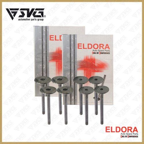 ست سوپاپ دود و بنزین پژو 405 ELDORA